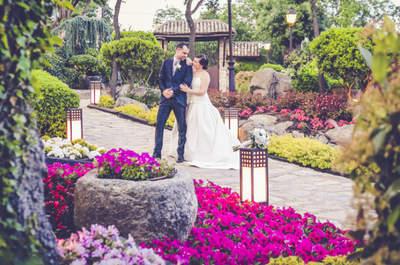 Espectáculo en estado puro: la boda de Mónica y Álex