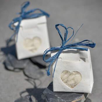 Bolsas Algodón Corazón Transparente 4 unidades- Compra en The Wedding Shop