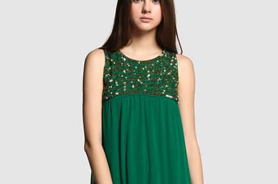 Vestidos de fiesta verdes cortos 2017. ¡Deslumbrarás!