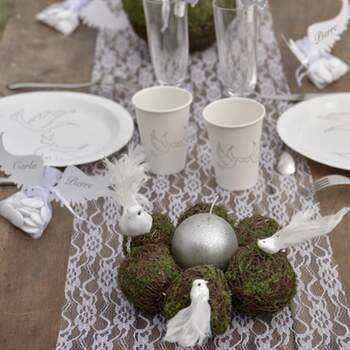 Rouleau De Table Motif Dentelle 30cm - The Wedding Shop !
