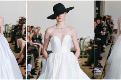 Vestidos de novia Justin Alexander 2018: el glitter y el color negro, novedades de la nueva colección