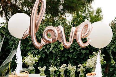 Ideas originales para una decoración de matrimonio con globos. ¡Triunfarás!