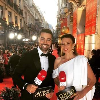 A apresentar os Globos de Ouro. Foto IG @ricardotpereira