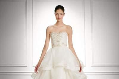 Encantadores vestidos de novia Carolina Herrera otoño 2013