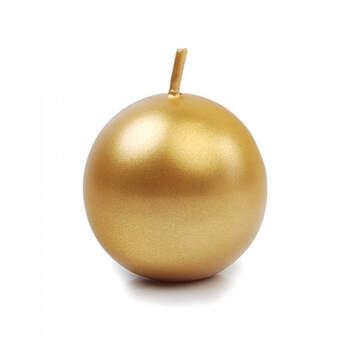 Candela sfera oro piccola 10 pezzi- Compra en The Wedding Shop