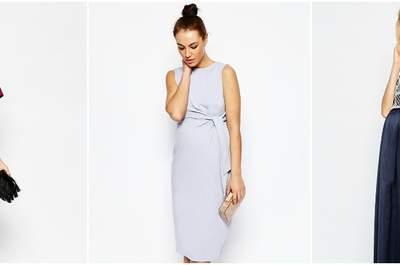Prachtige jurken voor de zwangere bruiloft gast
