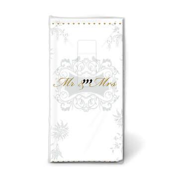 Pañuelos Mr y Mrs Oro- Compra en The Wedding Shop