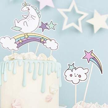 Cake Toppers Licorne 5 Pièces - The Wedding Shop !