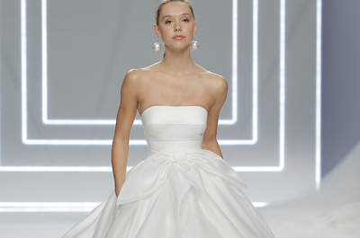 Vestidos de novia con escote palabra de honor 2017: ¡Te robarán el aliento!