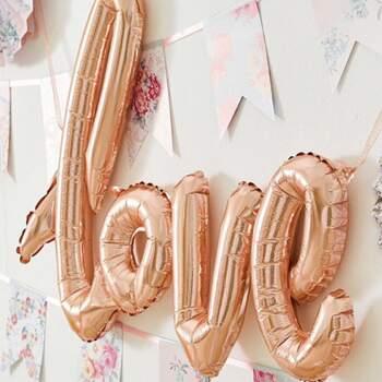 Ballon Love Rose Or - The Wedding Shop !