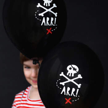 Globos piratas 6 unidades- Compra en The Wedding Shop