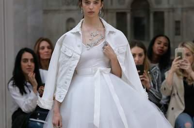 Vestidos de novia con falda voluminosa: Luce chic en tu gran día