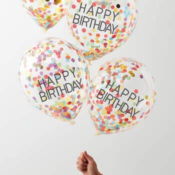 Globos de cumpleaños Arco Iris 5 unidades- Compra en The Wedding Shop