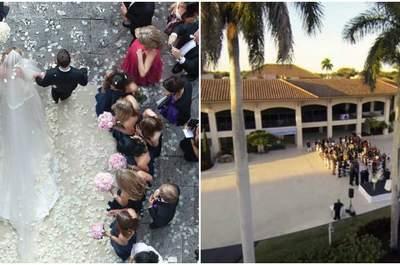 Niesamowite zdjęcia ślubne wykonane z dronów, które musisz zobaczyć!