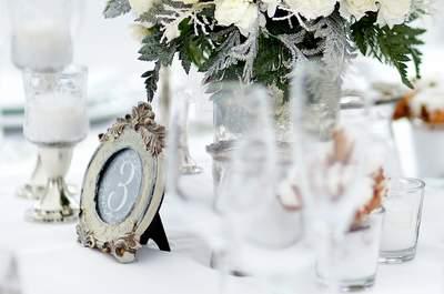 Numeración de mesas 2015: detalles chic para una boda con mucho estilo