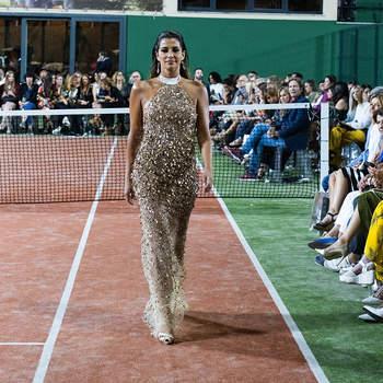 Isabel Figueira desfila para a coleção Summer 2020 de Gio Rodrigues