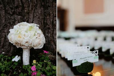 10 lindos y llamativos arreglos de mesa para boda con números