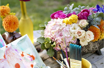 Real Decor: Decoración de boda estilo rústica inspirada en Van Gogh