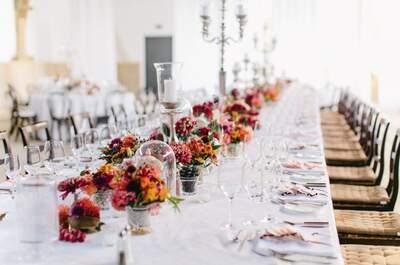 Tafelschmuck für die Tischmitte in Form von Blumen - Kreationen für das perfekte Hochzeitbankett 2017!