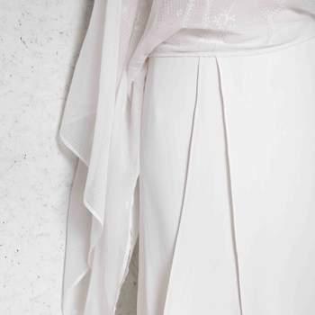 Dettaglio maniche abito da sposa
