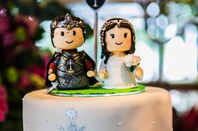 O casamento geek de Mariana & Renan inspirado nos livros de Tolkien, autor de O Senhor dos Anéis