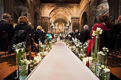 Trasparenze, fiori bianchi e verde pastello: ecco il matrimonio di Morena e Simone