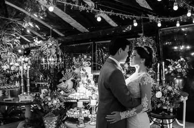 Casamento boho chic de Nathália e Eric: emoção à flor da pele e linda decoração em tons de vinho, rosa e branco!