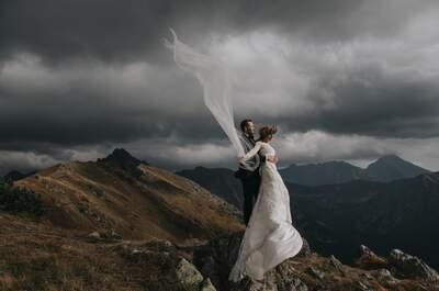 Sesja ślubna na wietrznym Kasprowym Wierchu wyszła doskonale!