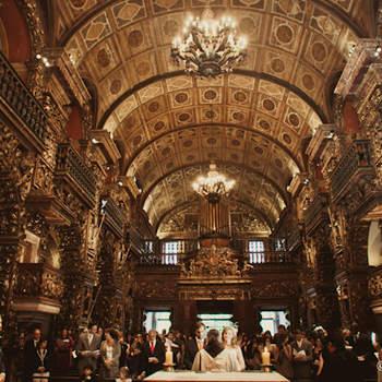 Cerimônia numa igreja tradicional.