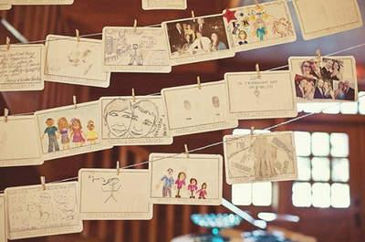 Inspiration décoration: utilisation des photos des mariés