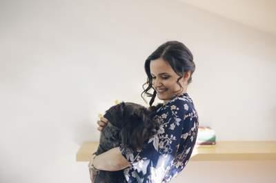 Las imágenes de boda con mascotas más adorables, ¡te encantarán!