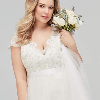 Vestidos de novia talla grande: ¡los últimos diseños para lucir curvas!