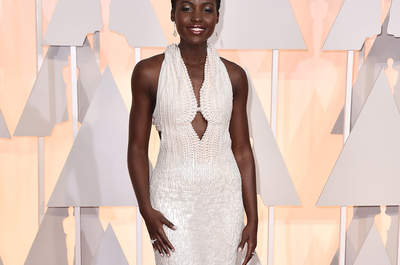 Actress Lupita Nyongo during 87th Oscars The Annual Academy Awards  in Los Angeles on February 22, 2015.