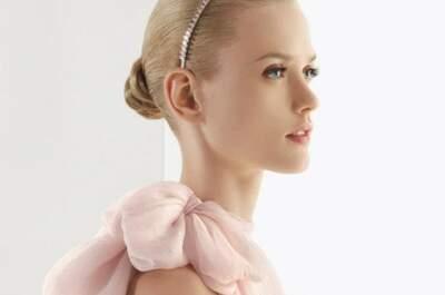 Elige un vestido de novia rosa pastel como el de Jessica Biel
