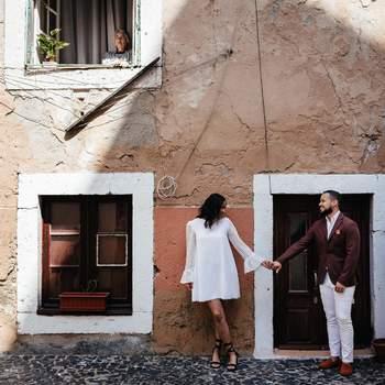 Melanie & Brandon: paixão e estilo invadem Lisboa para uma sessão de noivado