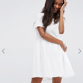 ASOS Casual Smock Dress in Grid Texture (27,03€)