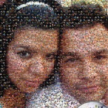 Un cuadro elaborado a base de fotos de los dos. Foto: fotomosaico.com facebook