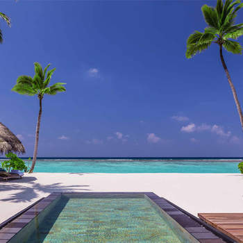 Um destino de lua-de-mel não foi suficiente para Fergie e Josh. Após o casamento em Malibu, em 2009, os recém-casados alugaram uma villa no resort One & Only Reethi Rah nas Maldivas. Foto: One & Only Reethi Rah