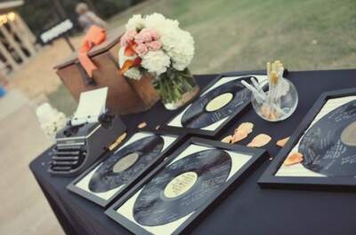Make memories with these unique wedding guest books