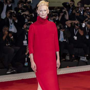 Tilda Swinton walks the red carpet ahead of the Suspiria screening during the 75th Venice Film Festival at Sala Grande on September 1, 2018 in Venice, Italy. Photo by Marco Piovanotto/ABACAPRESS.COM