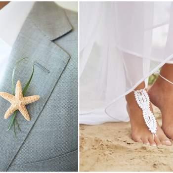 Credits: Beach Wedding via Thumblr& Barmine via Etsy