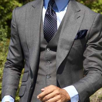 Traje gris. Credits: Absolute Bespoke