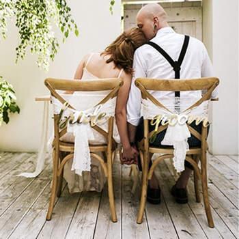 """Decoración para Seating Plan """"Bride"""" """"Groom""""- Compra en The Wedding Shop"""