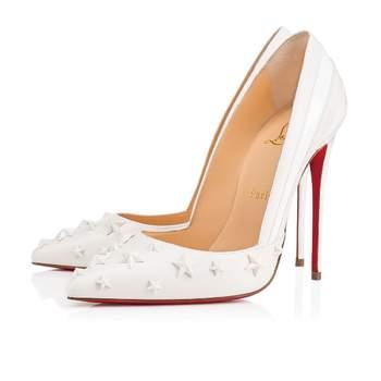 Chaussures de mariée blanches Wonder Pump Nappa Shiny Patent, Christian Louboutin
