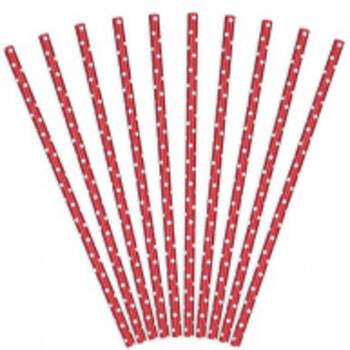 Pailles Vintage Rouges 10 Pièces - The Wedding Shop !