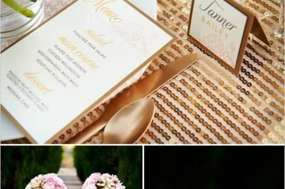 Detalles de color dorado en tu boda, ¡descubre cómo brillar más que nunca!