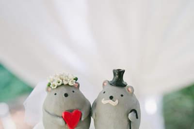 Los muñecos más originales para decorar el pastel de bodas: Un detalle must