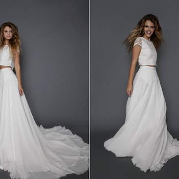 Fabulosos vestidos de noiva de duas peças: divida e prepare-se para arrasar!
