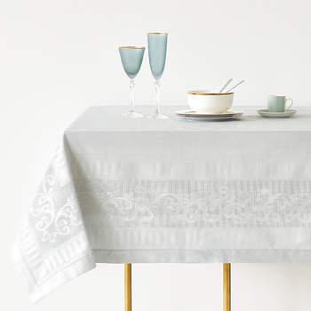 Mantel de algodon y satén en jacquard. Credits Zara Home