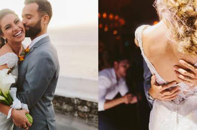 Sunset wedding de Fabiana & Renato: rústico e mega personalizado!
